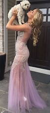 Long Pink Prom( Formal Dress) With Sequin's, Terani Couture Size 4