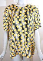 ESCADA Margaretha Ley Women's Short Sleeve Silk Blouse, Sunflowers, Size 44