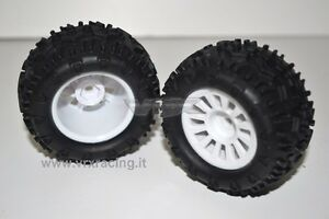 COPPIA RUOTE COMPLETE MONSTER TRUCK TRUGGY ESAGONO 9 mm 1:18 OFF ROAD 18081 VRX