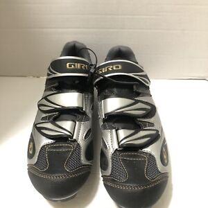 EUC Giro Women's Size 9.75 EU 42Black Grey Riela MTB Cycling Spin Bike Shoes