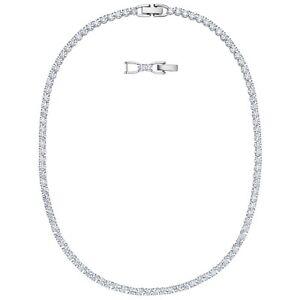 Swarovski Tennis Deluxe Necklace - White - Rhodium Plated - 5494605