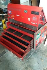 Snap On Lock Front Tool Case KRL 737, 5 Drawer, metal, red storage, for roll cab