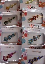 1 x Random Indian Party Bindi Stick on Jewellery Crystal Bollywood Boho