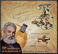 BURUNDI 2012 MNH Imperf SS, Graham Bell, Inventor Telephone