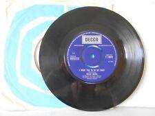 "7"" vinyle SGL BILLIE DAVIS. I WANT YOU TO BE MY BABY. SOUFFRIR. DECCA F 12823. IC IC"