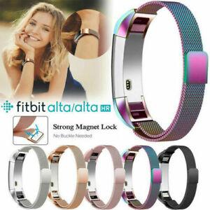 Für FitBit Alta HR Armband Edelstahl Metall Milanese Sport Magnetisch Ersatzband