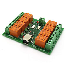 USB Eight (8) Channel Relay Output Module Board for Home Automation - 12V