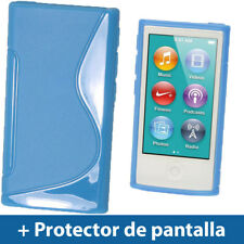 Azul Case TPU Gel para Nuevo Apple iPod Nano 7ª Generación 7G TPU Funda Cover