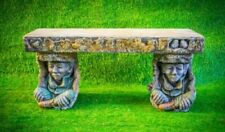 Pixie Goblin Design Garden Bench Seat Stone Cast Heavy And Solid