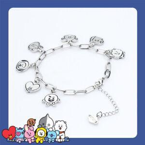 UK KPOP Bracelet Bangtan Boys V SUGA JIN Wristband Bracelets Jewelry Accessories