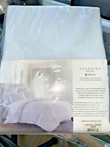 Kassatex New York  New 2pc Standard Pillowcases  ICE BLUE NWTS CBB
