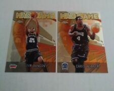 2002 Topps Chrome Mad Game Inserts Tim Duncan and Chris Webber see pics