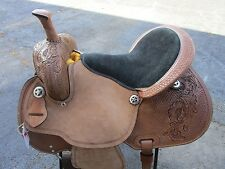 15 16 BARREL RACING PLEASURE ARABIAN SHOW TOOLED LEATHER WESTERN HORSE SADDLE