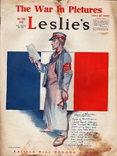 Leslie's Illustrated Weekly Newspaper/Magazine November 16, 1918 War In Pictures