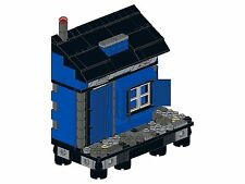 Lego - Old Town - F07 - Haus IV (Rechte Ecke - blau&schwarz)