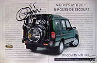 PUBLICITÉ 1995 LAND-ROVER DISCOVERY RALEICH 4 ROUES MOTRICES - ADVERTISING
