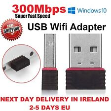 WIFI Dongle Adapter 300MB/s USB Wireless Network Lan For Windows Laptop Pc