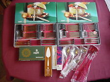 WMF Capri Partially Gold Plated Cromargan Table Cutlery 12 People and Rug NIP