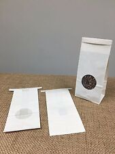 "1,000 small bulk food Tie Bags White with Round Window,  3 3/8"" x 2 3/4"" x 8"""