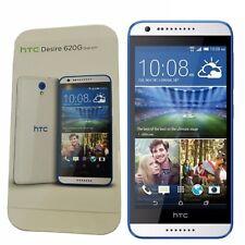 BNIB HTC Desire 620G Dual-SIM 8GB White/Blue Trim Factory Unlocked 3G GSM New