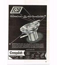 1946 Centralab CRL Button Silver Mica Capacitors Vtg Print Ad