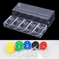 100D capacity poker chips box poker acrylic chips tray chips case with covers ST