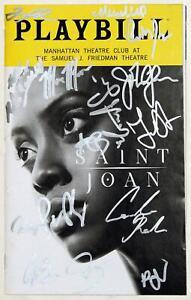 SAINT JOAN Cast Patrick Page, John Glover, Condola Rashad Signed Playbill