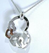GORGEOUS PASQUALE BRUNI 18 CT WHITE GOLD MULTI HEART DIAMOND NECKLACE