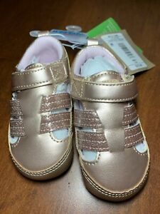 Baby Girls Surprize by Stride Rite Kellyn Sandal Shoes Rose Gold 12-18M NWT