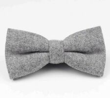Nouveau Vintage Tweed Laine Gris Pre-Tied Bow Tie. les objets correspondants disponibles. UK.