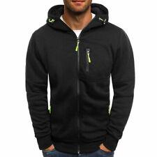 Men's Winter Hoodies Sweatshirt Outwear Sweater Coat Jacket Black Size S