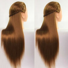 Practice Training Head Long Hair Salon Model Hairdressing Mannequin Doll Gold