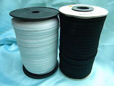 """Braid Stronger Elastic Black / White Size From 1/8"""" to 1/2"""" Wide~New"""