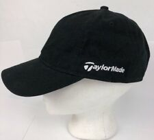 TaylorMade Snapback Golf Hat Black With white embroidery OSFA