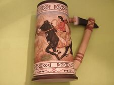 GREGORY PERILLO Stein/Tankard 'HOOFBEATS' Hand Painted Porcelain // Beautiful //