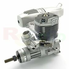 O.S. MAX-46AXII Glow/Nitro RC Airplane Engine with E-3071 Silencer # OS15490