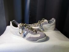 Sneakers Serafini Leather Off-White Suede and Grey 36