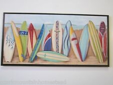 Surfboard beach wall decor plaque ocean theme sign surf board picture surf BIG