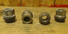 (4) 91-05 Chevy Saturn Pontiac GM Wheel Lug Nuts for plastic caps Threaded OEM