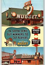 Dick Graves Nugget Casino & Cafe Reno Sparks And Carson City tri View Postcard