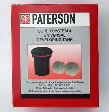 PATERSON ptp115 Super System 4 UNIVERSAL FILM in via di sviluppo SERBATOIO C/W 2 RULLI