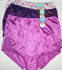 3 Vanity Fair Brief Panty Set Nylon Lace Nouveau 13001 Purple Pink 7 Large L NWT
