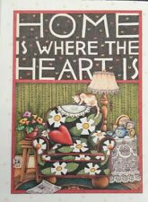 Mary Engelbreit Artwork-Home Is Where The Heart Is-Handmade Magnets