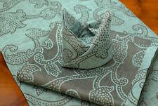 colorkitchen Tischdecke Pushpa walnuss-eisblau 140x140 cm 100% Leinen