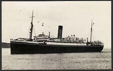 "Shaw Savill Line - R.M.S. Mataroa ? 1954 ""Canal Zone"" Posted Real Photo Postcard"