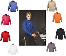 Herrenhemd Langarm Übergrösse Oberhemd Hemd Popeline Premier Workwear Pflegeleic