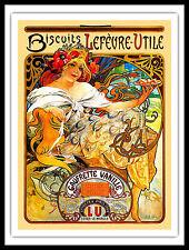 """Alphonso Mucha Magnetic Poster 12""""x15.5 Art Nouveau Canvas Print FRIDGE MAGNET"""