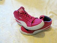 PUMA PINK HIGH TOP SHOES SUEDE UK 6 LADIES EXCELLENT