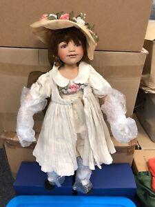 Berdine Creedy Künstlerpuppe Porzellan Puppe 63 cm. Top Zustand
