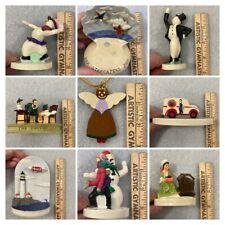 Lot (9) Assorted Sebastian Miniatures & Ornament Mib